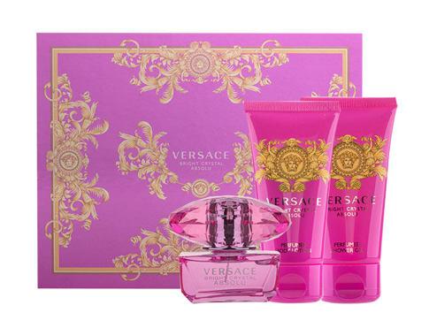 Versace Bright Crystal Absolu EDP dárková sada pro ženy - EDP 50 ml + tělové mléko 50 ml + sprchový gel 50 ml