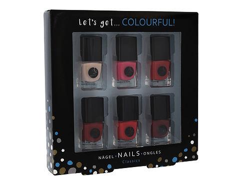 2K Let´s Get Colourful! Classics lak na nehty dárková sada pro ženy - lak na nehty 6x 5 ml