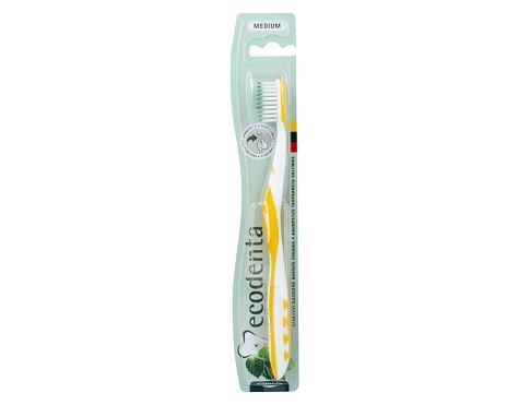 Ecodenta Toothbrush Medium 1 ks zubní kartáček Yellow unisex