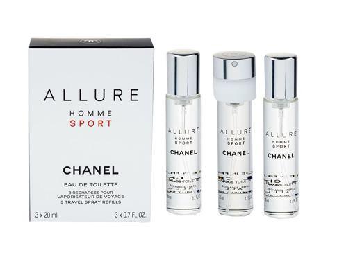 Chanel Allure Homme Sport 3x 20 ml 20 ml EDT Náplň pro muže