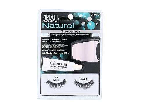 Ardell Natural umělé řasy dárková sada Black pro ženy - umělé řasy Demi Wispies 101 1 pár + lepidlo na řasy 2,5 g + aplikátor