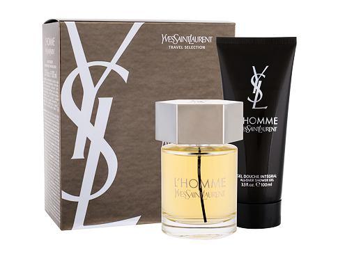 Yves Saint Laurent L´Homme EDT dárková sada pro muže - EDT 100 ml + sprchový gel 100 ml