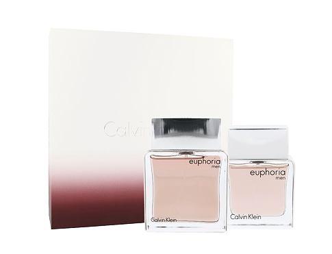 Calvin Klein Euphoria Men EDT dárková sada Poškozená krabička pro muže - EDT 100 ml + EDT 30 ml