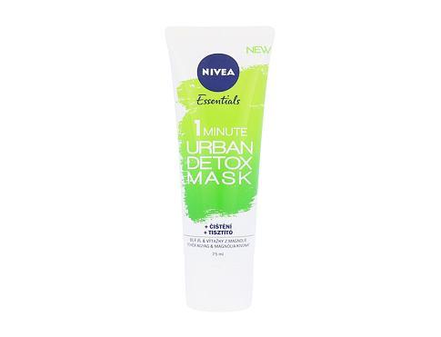 Nivea Essentials 1 Minute Urban Detox Mask 75 ml pleťová maska pro ženy