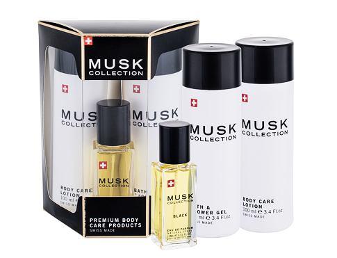 MUSK Collection Musk Collection Black EDP dárková sada pro ženy - EDP 15 ml + tělové mléko 100 ml + sprchový gel 100 ml