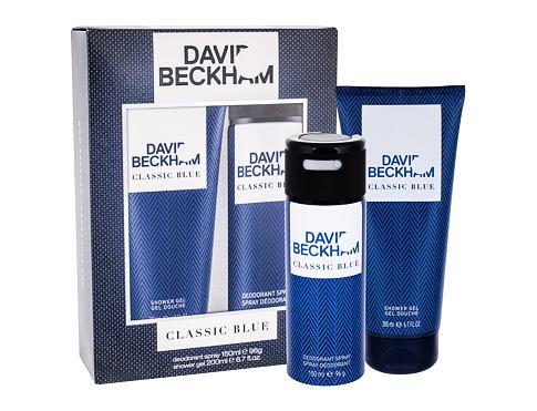 David Beckham Classic Blue deodorant dárková sada pro muže - deodorant 150 ml + sprchový gel 200 ml