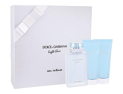 Dolce&Gabbana Light Blue Eau Intense EDP dárková sada pro ženy - EDP 100 ml + tělový krém 100 ml + sprchový gel 100 ml
