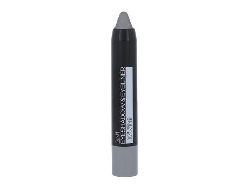 Gabriella Salvete Eyeshadow & Eyeliner 2in1 3,5 g oční stín 01 Metallic Grey pro ženy