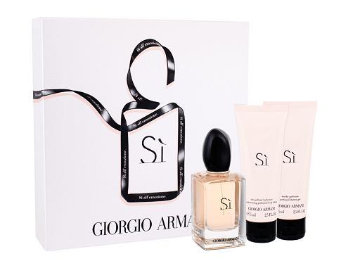 Giorgio Armani Si EDP dárková sada pro ženy - EDP 50 ml + tělové mléko 75 ml + sprchový gel 75 ml