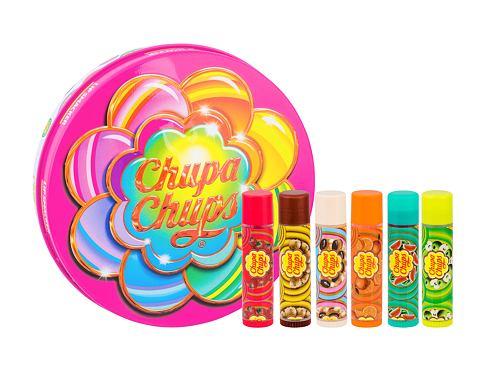 Lip Smacker Chupa Chups balzám na rty dárková sada unisex - balzám na rty 6 x 4 g + plechová krabička