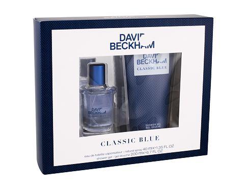 David Beckham Classic Blue EDT dárková sada pro muže - EDT 40 ml + sprchový gel 200 ml