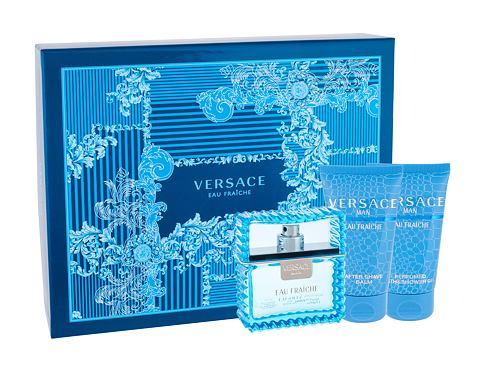 Versace Man Eau Fraiche EDT dárková sada pro muže - EDT 50 ml + sprchový gel 50 ml + balzám po holení 50 ml