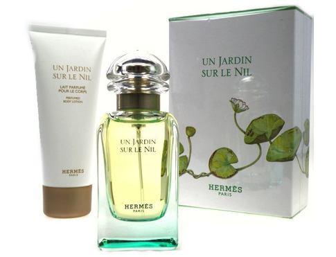 Hermes Un Jardin Sur Le Nil EDT dárková sada pro ženy - EDT 50 ml + tělové mléko 75 ml
