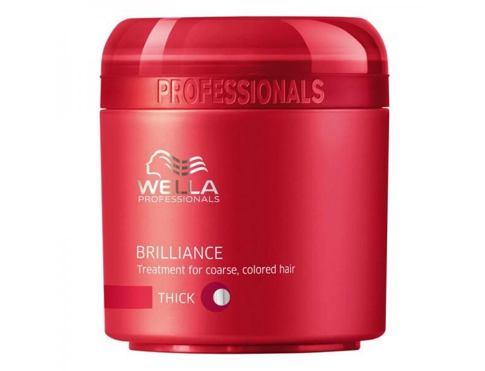 Wella Brilliance Thick Hair 150 ml maska na vlasy pro ženy