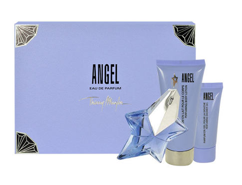 Thierry Mugler Angel EDP dárková sada Naplnitelný pro ženy - EDP 25 ml + tělové mléko 100 ml + sprchový gel 30 ml
