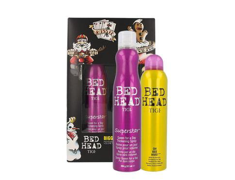 Tigi Bed Head Superstar lak na vlasy dárková sada pro ženy - lak na vlasy 311 ml + suchý šampon Bed Head Oh Bee Hive 238 ml