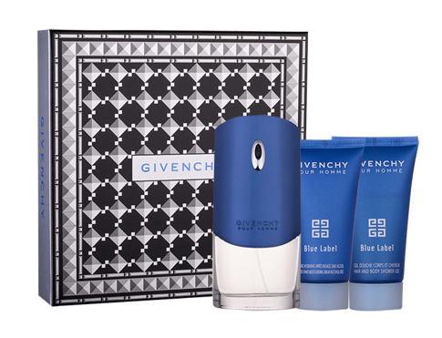 Givenchy Pour Homme Blue Label EDT dárková sada pro muže - EDT 100 ml + sprchový gel 50 ml + balzám po holení 50 ml