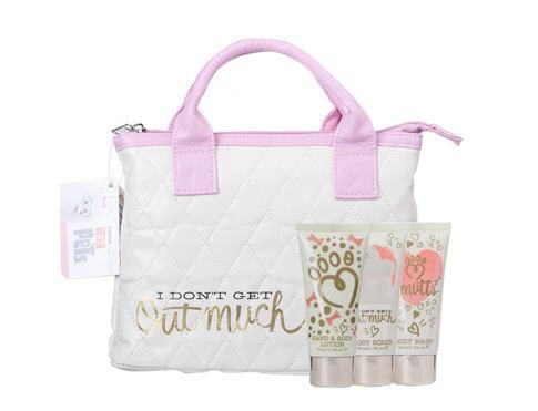 Universal The Secret Life Of Pets sprchový gel dárková sada unisex - sprchový gel 50 ml + tělový peeling 50 ml + tělové mléko 50 ml + kabelka