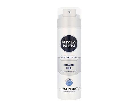Nivea Men Silver Protect 200 ml gel na holení pro muže