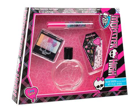 Monster High Monster High EDT dárková sada unisex - EDT 50 ml + oční stíny 3,4 g + lesk na rty 2,5 ml + samolepky na náušnice