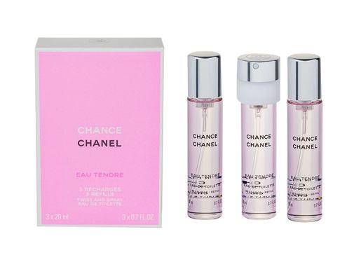 Chanel Chance Eau Tendre 3x 20 ml 20 ml EDT Náplň pro ženy