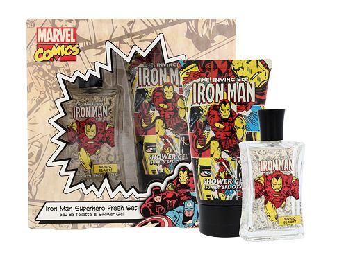 Marvel Comics Iron Man EDT dárková sada unisex - EDT 75 ml + sprchový gel 150 ml