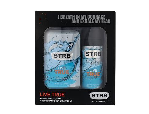 STR8 Live True EDT dárková sada pro muže - EDT 50 ml + deodorant 150 ml