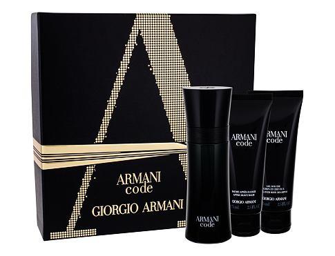 Giorgio Armani Armani Code Pour Homme EDT dárková sada pro muže - EDT 75 ml + balzám po holení 75 ml + sprchový gel 75 ml