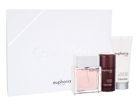 Calvin Klein Euphoria Men EDT dárková sada pro muže - EDT 100 ml + balzám po holení 100 ml + deostick 75 ml