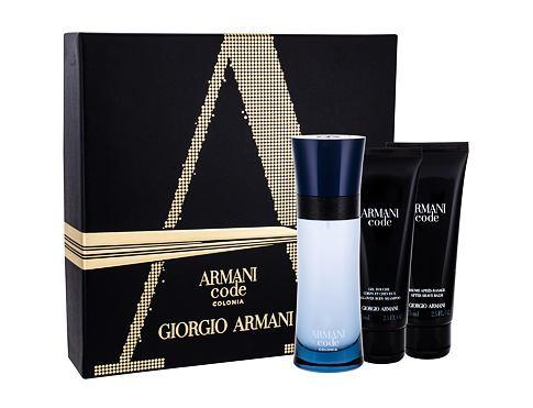 Giorgio Armani Armani Code Colonia EDT dárková sada pro muže - EDT 75 ml + sprchový gel 75 ml + balzám po holení 75 ml