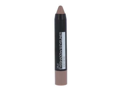 Gabriella Salvete Eyeshadow & Eyeliner 2in1 3,5 g oční stín 04 Metallic Beige pro ženy