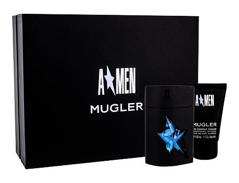 Thierry Mugler A*Men Rubber EDT dárková sada pro muže - EDT 50 ml + sprchový gel 50 ml