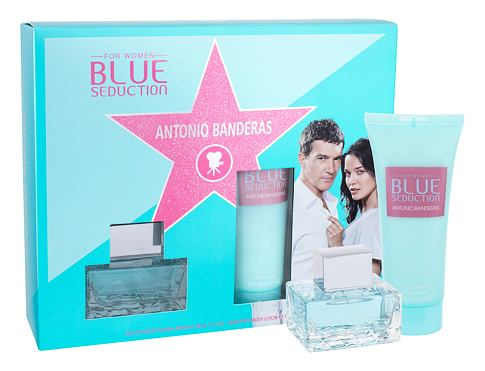 Antonio Banderas Blue Seduction For Women EDT dárková sada pro ženy - EDT 50 ml + tělové mléko 100 ml
