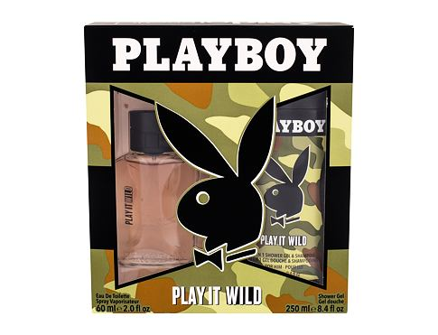 Playboy Play It Wild For Him EDT dárková sada pro muže - EDT 60 ml + sprchový gel 250 ml