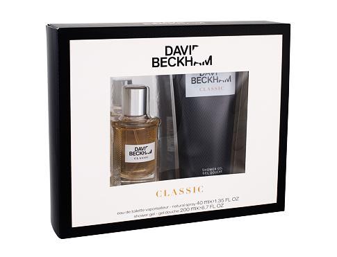David Beckham Classic EDT dárková sada pro muže - EDT 40 ml + sprchový gel 200 ml