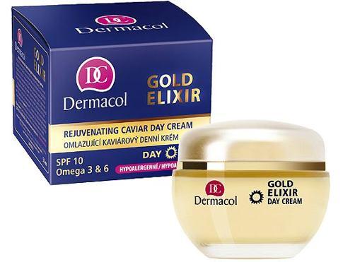 Dermacol Gold Elixir 50 ml denní pleťový krém pro ženy