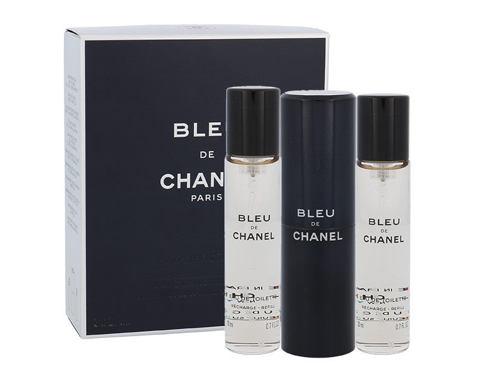 Chanel Bleu de Chanel 3x 20ml 3x20 ml EDT Twist and Spray pro muže