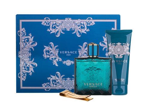 Versace Eros EDT dárková sada pro muže - EDT 100ml + sprchový gel 100 ml + spona na bankovky