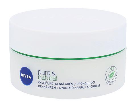 Nivea Pure & Natural 50 ml denní pleťový krém pro ženy