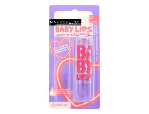 Maybelline Baby Lips Valentine Kiss Balm 4,4 g balzám na rty 16 Chocolate Kiss pro ženy