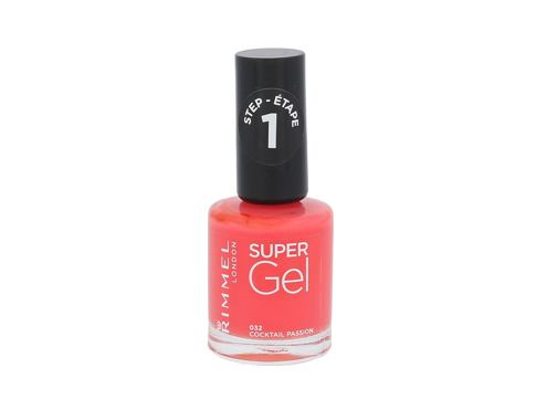 Lak na nehty Rimmel London Super Gel STEP1 12 ml 032 Cocktail Passion
