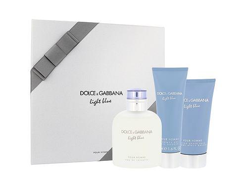 Dolce&Gabbana Light Blue Pour Homme EDT dárková sada pro muže - EDT 125 ml + balzám po holení 75 ml + sprchový gel 50 ml