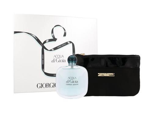 Giorgio Armani Acqua di Gioia EDP dárková sada pro ženy - EDP 100 ml + kosmetická taška