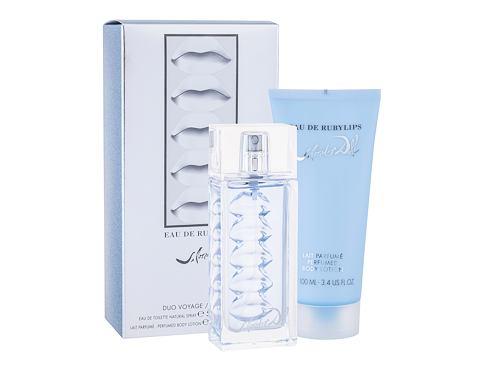 Salvador Dali Eau de Rubylips EDT dárková sada pro ženy - EDT 50 ml + tělové mléko 100 ml