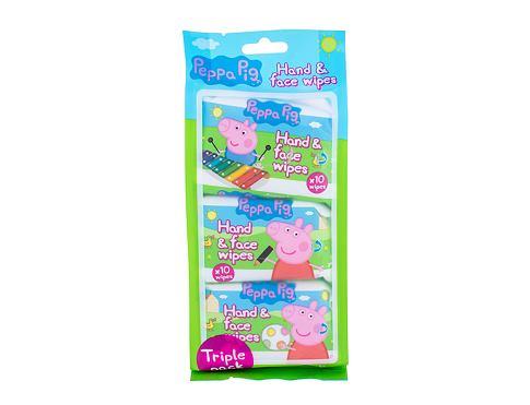 Peppa Pig Peppa Hand & Face Wipes 30 ks čisticí ubrousky unisex
