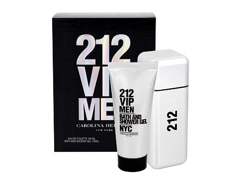 Carolina Herrera 212 VIP Men EDT dárková sada pro muže - EDT 100 ml + sprchový gel 100 ml
