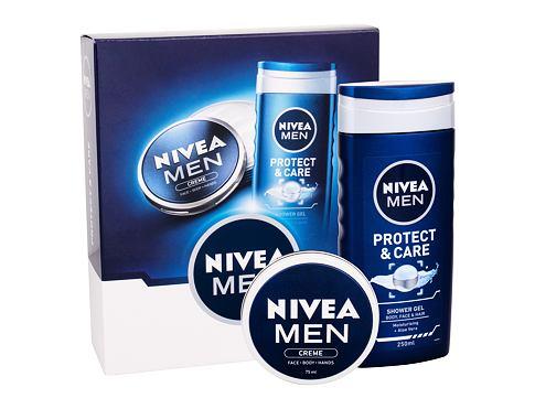 Nivea Men Protect & Care sprchový gel dárková sada pro muže - sprchový gel Men Protect & Care 250 ml + univerzální krém Men Creme 75 ml