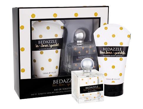 Bedazzle Live.love.sparkle EDT dárková sada pro ženy - EDT 100 ml + tělové mléko 150 ml