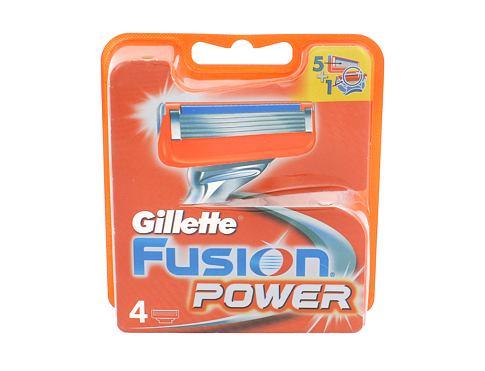 Gillette Fusion Power 4 ks náhradní břit pro muže