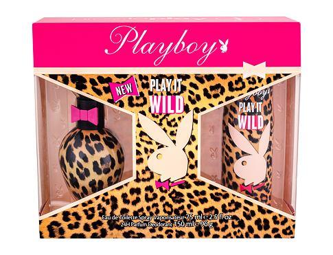 Playboy Play It Wild For Her EDT dárková sada pro ženy - EDT 75 ml + deodorant 150 ml
